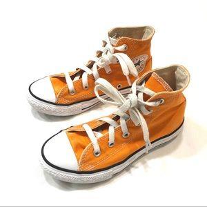 Converse orange high tops size 13